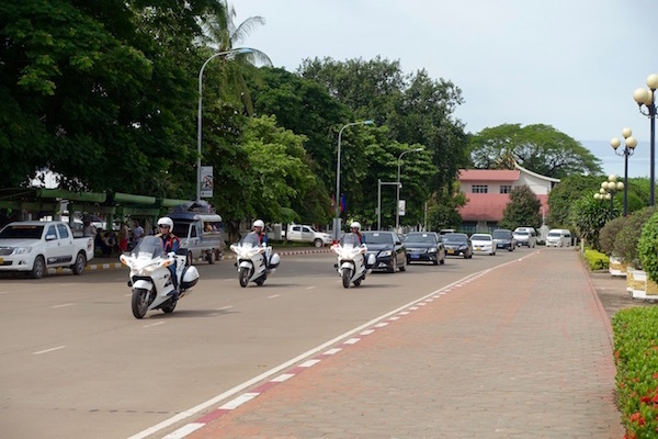 Motorcade practice run, ASEAN Fever | Eat Drink Laos http://eatdrinklaos.com/blog/asean-fever