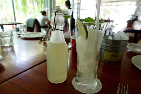 Soda pop style fresh lemon juice... at Senglao Cafe, Vientiane | Eat Drink Laos - http://eatdrinklaos.com/blog/vientiane-senglao-cafe - This tasty lunch restaurant has great decor, friendly service and delivers delicious food fast. If you're after lunch in Vientiane, Laos (or breakfast, coffee or dinner), try Asian fusion at Senglao cafe.