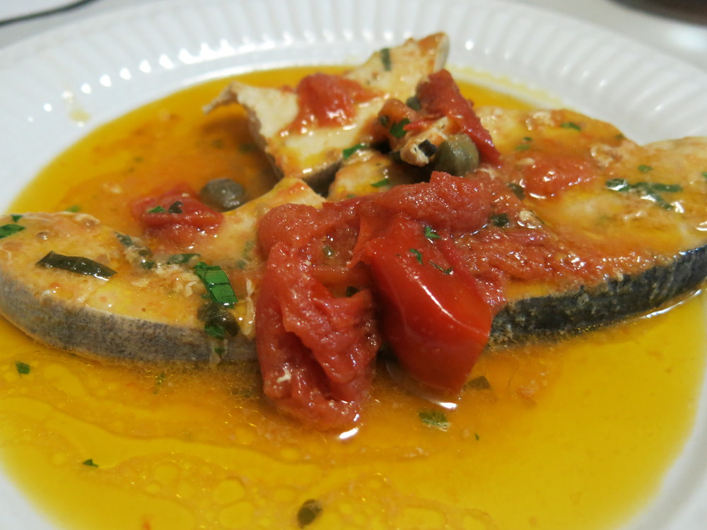 pesce spada in umido, Marina di Pisciotta
