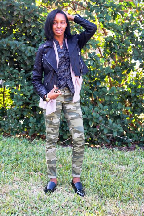 Top:  Marshalls  Sweater:  H&M  Jacket:  Nordstrom Rack  Pants:  Ross  Shoes: Nordstrom Rack