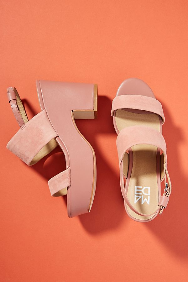 ANTHROPOLOGIE - pink platforms