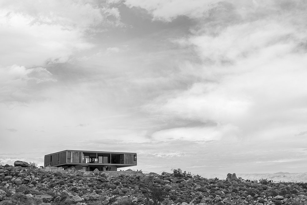 This newly constructed Al Beadle designed house in Palm Springs was open to tours during Modernism Week 2017.