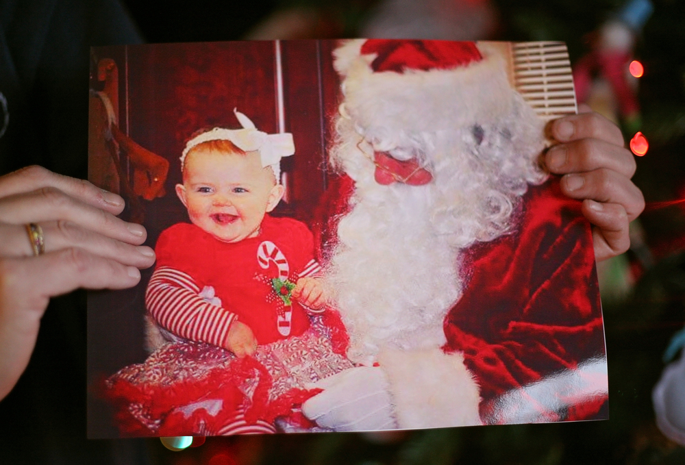 Josslyn Gee with Santa