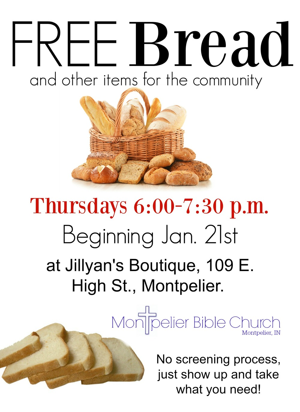 Free Bread Flyer