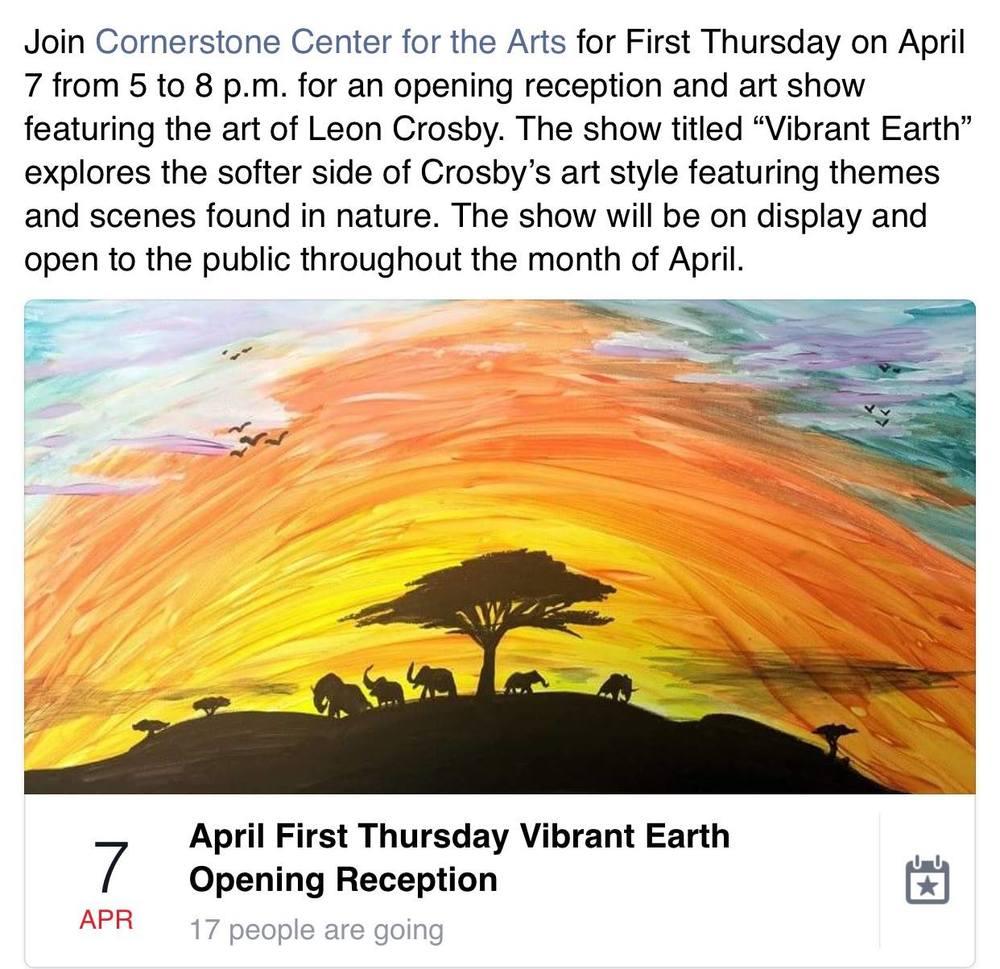 Leon Crosby Art Show