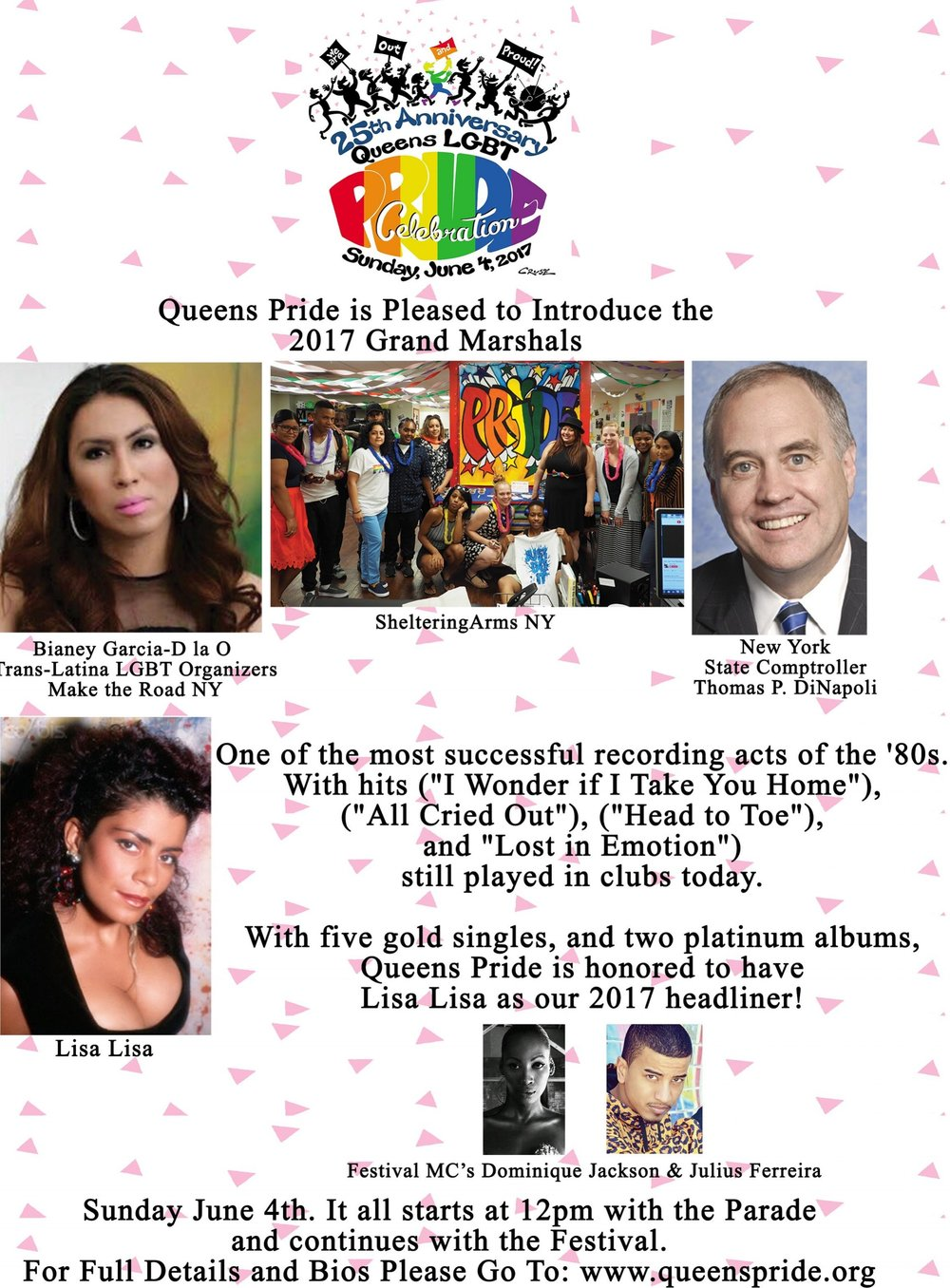 2017 Queens Pride Flyer