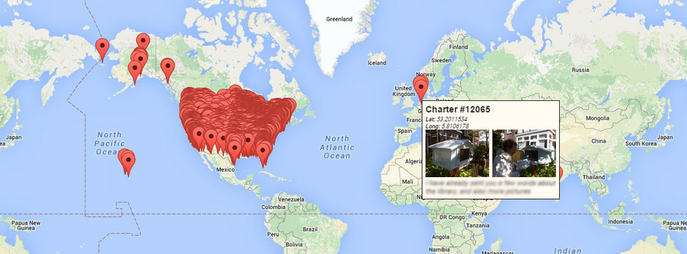 This is the very impressive--and ever growing--worldwide map of registered Little Free Library locations.