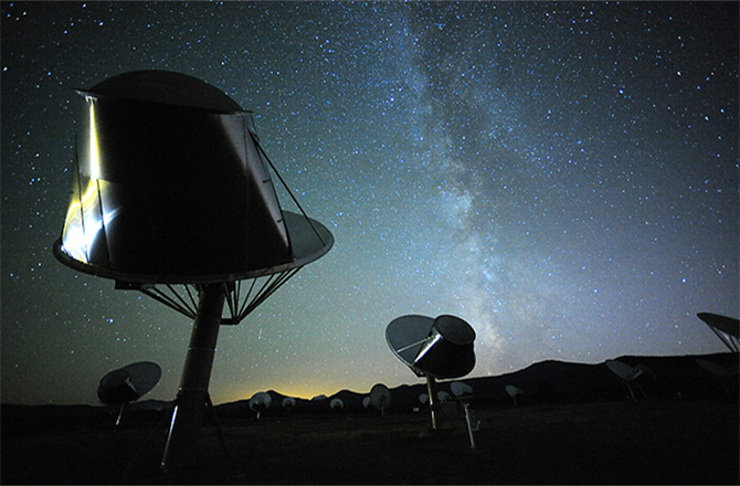 The SETI Institute's Allen Telescope Array (ATA) was recently used to seek out artificial signals from Tabby's Star. Alas, no signal was detected.  SETI Institute