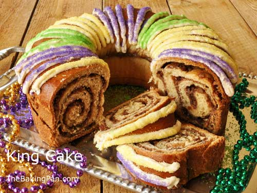 Click the image for a delicious king cake recipe from  The Baking Pan food blog .