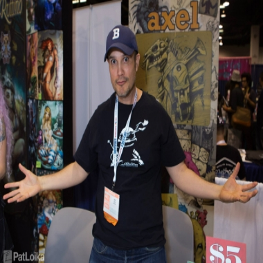 "Axel has dabbled in various aspects of the fine-art world, from concept design work for major corporations, solo art-shows at well regarded galleries, background/character design work on television (most recently Axe Cop), and maintains a strong presence in the ""convention circuit"". G.E.E.K is Axel's first foray into sequential comic book work."