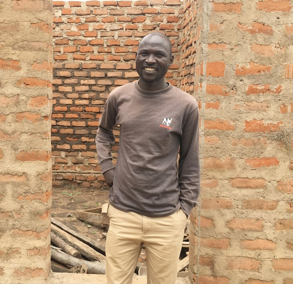 NUMEM clinic co-founder, Olanya Denish, at his home in northern Uganda, August 2016.
