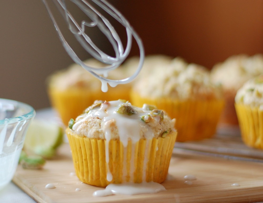 Pistachio Lime Muffins