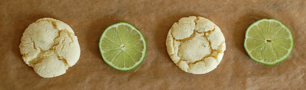 Lime & White Chocolate Chewy Cookies