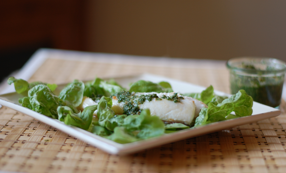 Oregano Verde Halibut