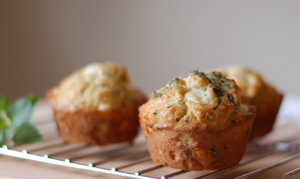 Cheese Curd & Oregano Muffins