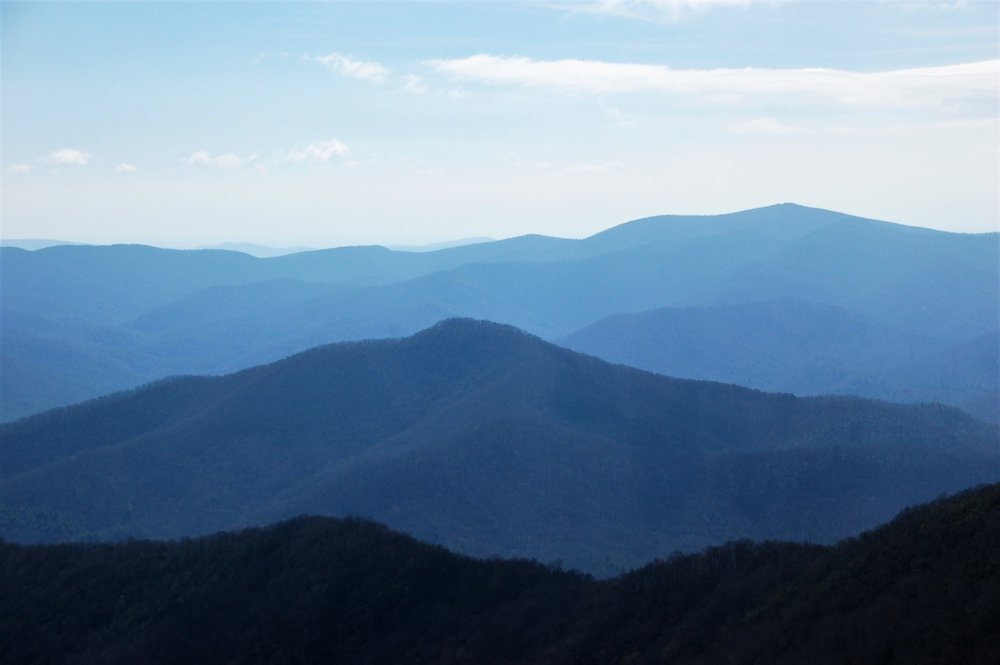 View from Brasstown Bald, Highest Point in Georgia