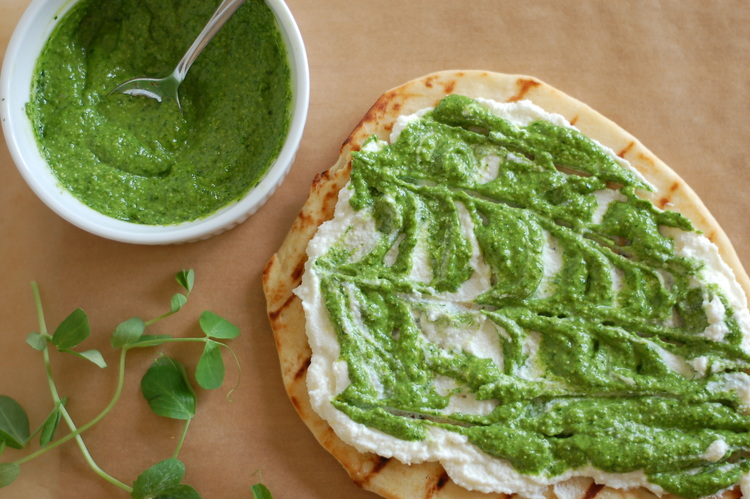 Spring Pesto Flatbread Pizza