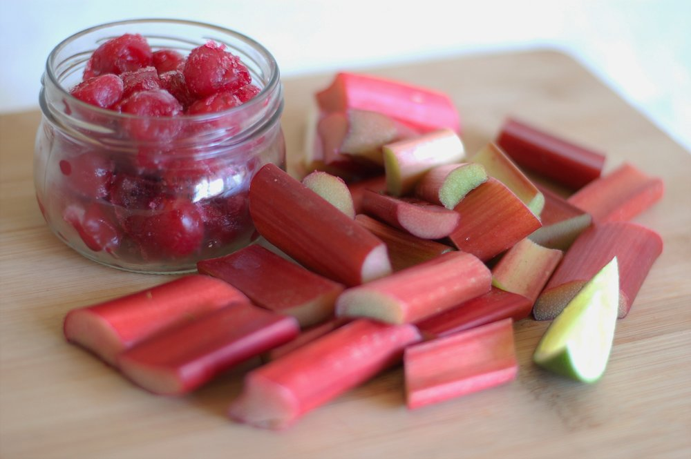 Rhubarb & Cherry Compote