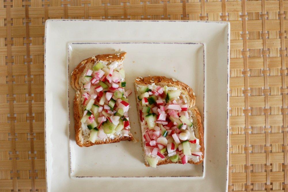 Radish Relish Toast