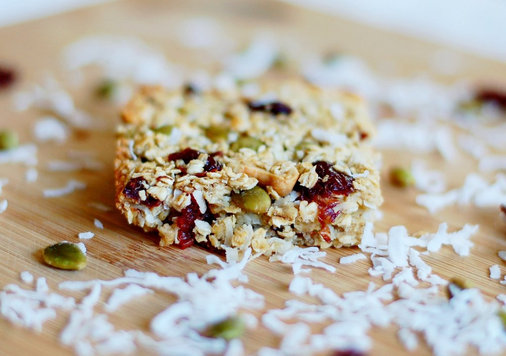 Sour Cherry & Pepita Oatmeal Bars