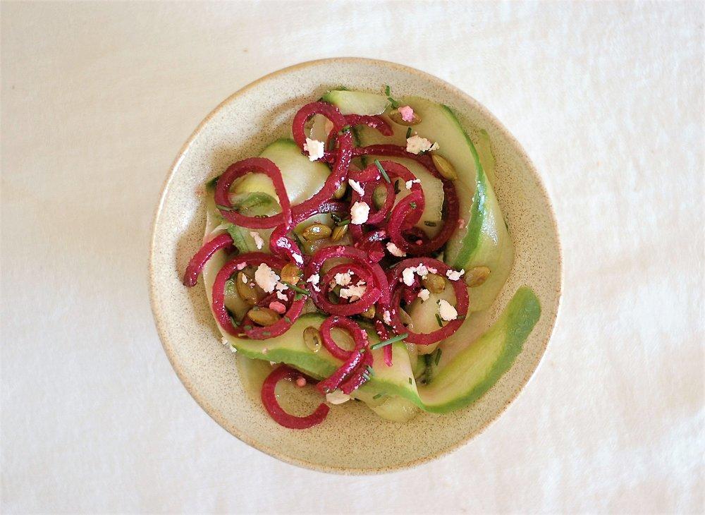Spiral Beet & Cucumber Salad