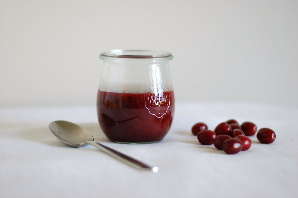 Cornelian Cherry Curd