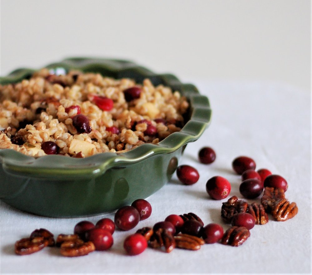 Fresh Cranberry  Farro Salad