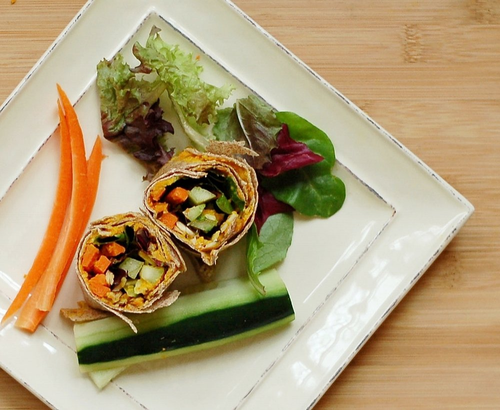 Veggie Wrap with Carrot Ginger Spread