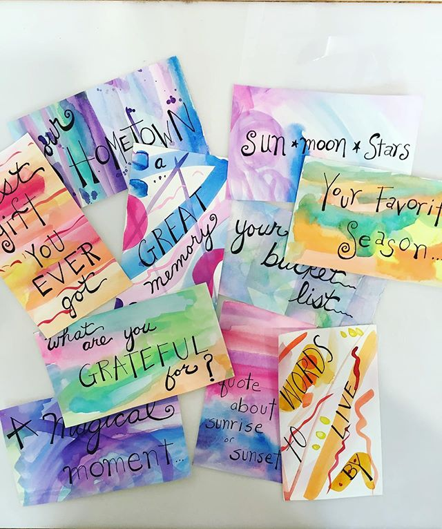 Fun prompts for Visual Arts Journaling class...