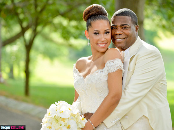 Tracy Morgan with his wife Megan Wollover in People
