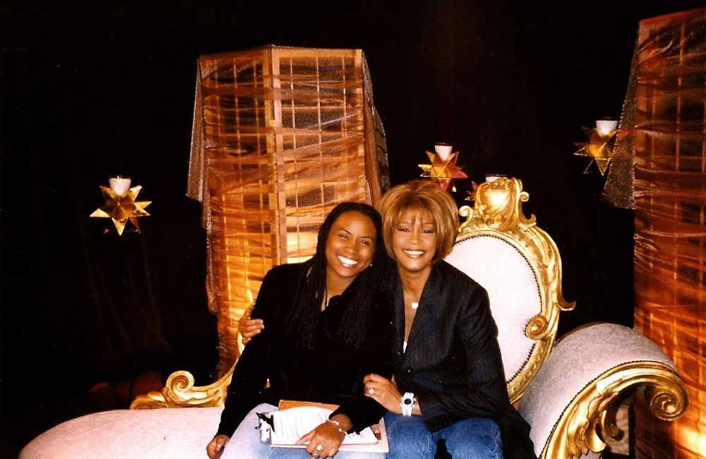 Quencie and Whitney at MTV Studios in NYC in Nov., 1998