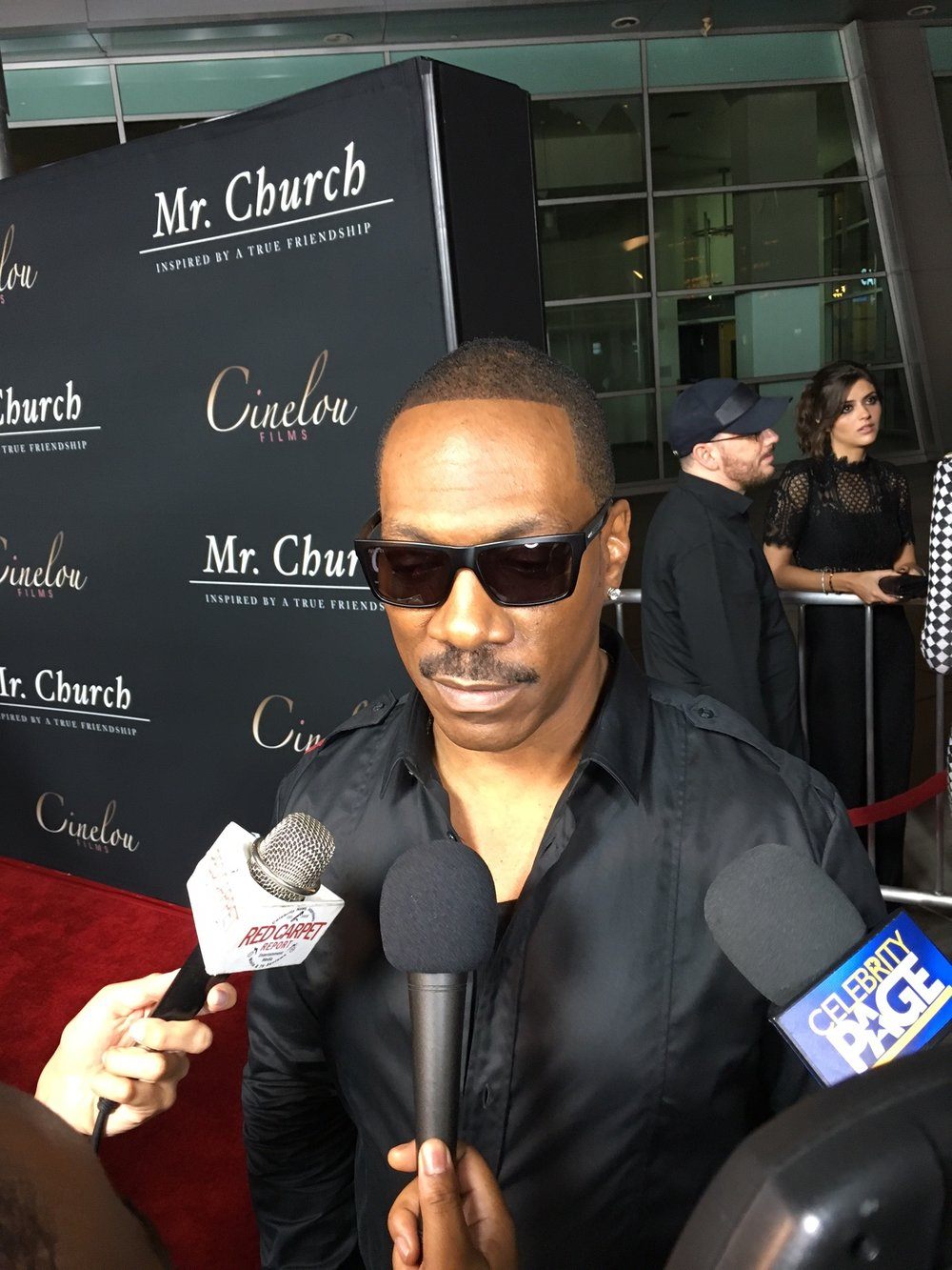Eddie Murphy being interviewed
