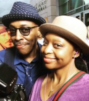 Studio Q Producer, Tam, with Arsenio Hall