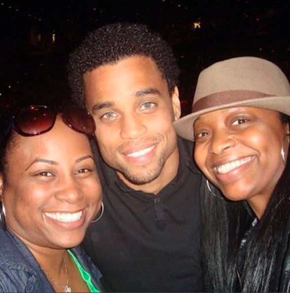 Quencie, Michael Ealy and Tam. We saw Michael Ealy at a Janet Jackson concert and asked for a pic.
