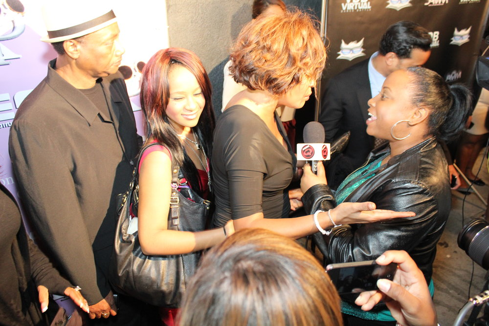 My very first red carpet was with Whitney Houston! She was the sole reason I went and she only stopped to talk to me. This was 2 days before she passed 2/9/12. I will never forget this day. Thank you Whitney! I love and miss you.