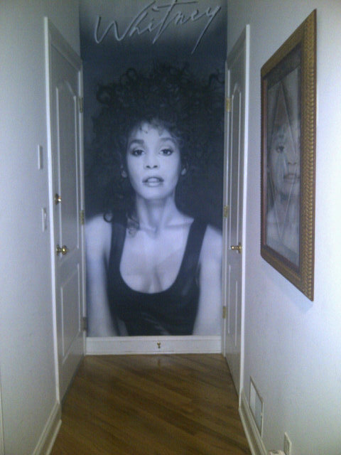 Missy has a tribute to Whitney in her house.