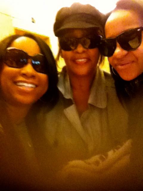 Me with Whitney and Bobbi Kristina