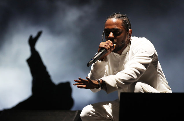 Christopher Polk/Getty Images for CoachellaKendrick Lamar performs on the Coachella Stage during day 3 of the Coachella Valley Music And Arts Festival (Weekend 1) at the Empire Polo Club on April 16, 2017 in Indio, Calif.