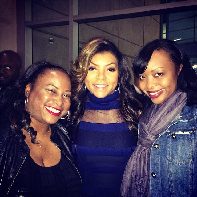 Tam and Quencie with Taraji P Henson