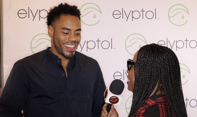 Quencie Interviewing Football Player Rashad Jennings who won Dancing With The Stars