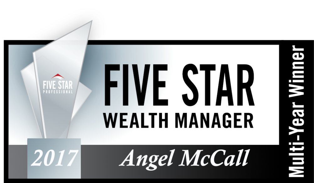 Angel McCall is a Multi-Year Five Star Professional Wealth Manager! Click here for more...