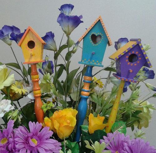 Birdhouse Garden Stake — Artistic Me