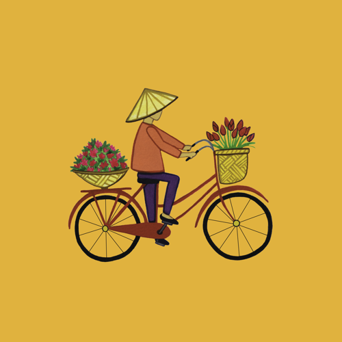 Vietnamese Flower Lady on Bike.png
