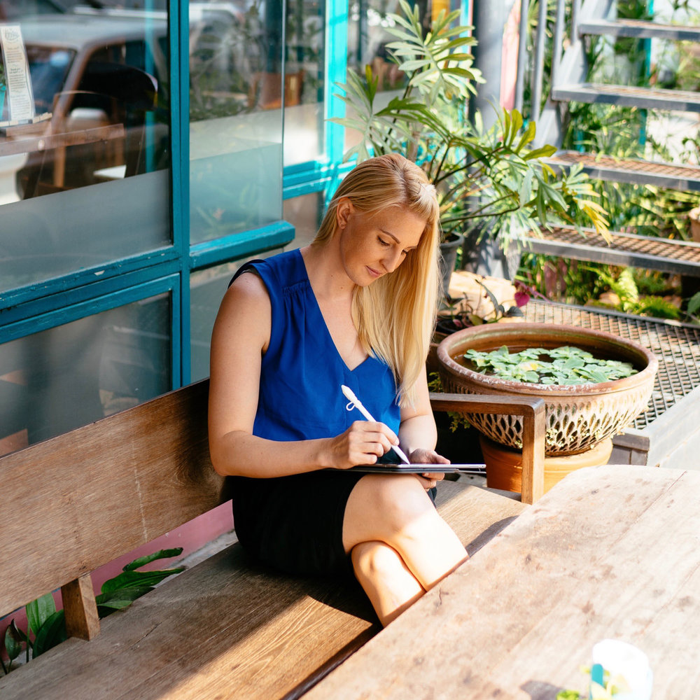 Cafe doodling in Chiang Mai, Thailand