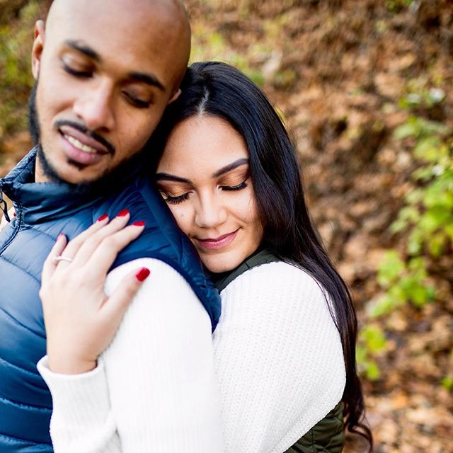 Makeup by me for this beautiful couple's engagement shoot 💍💑 - 📸: @elkin.cardona