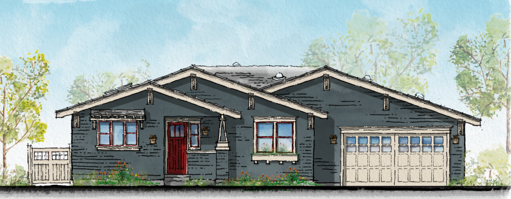 San Luis Obispo Craftsmen Home Front Elevation.png