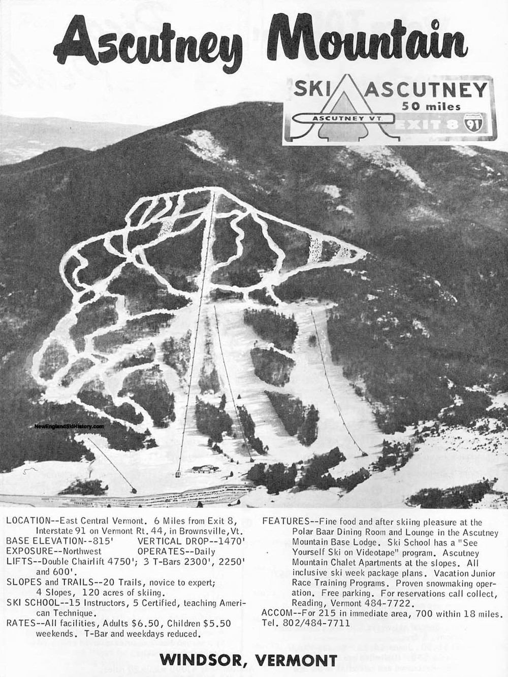 Trail map 1967