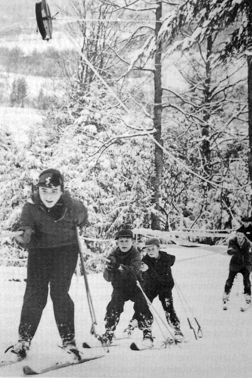 Riding the rope tow in 1956