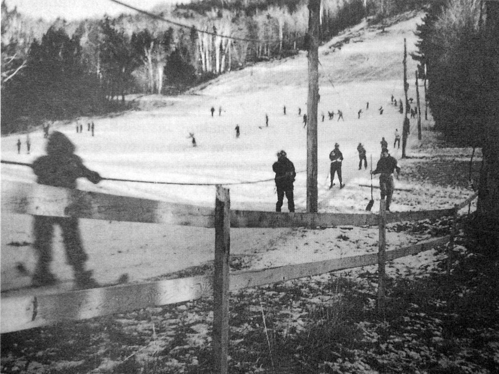 Riding the rope tow in 1957