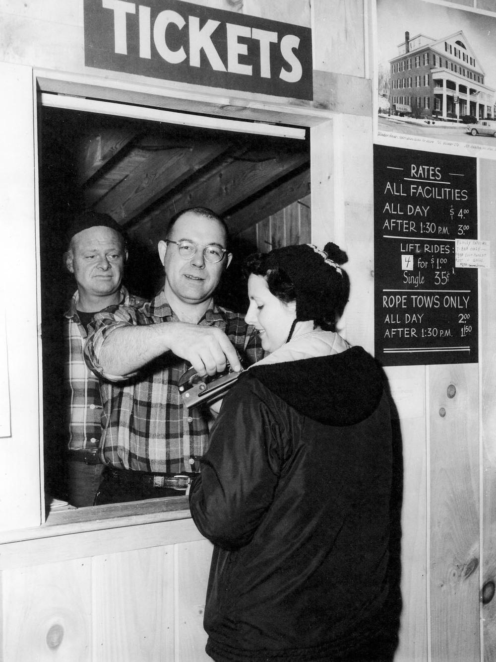 Bob Ely, Jim Howland, Mary Harriman 4 lift rides $1